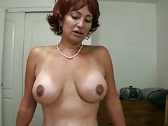 Hot Redhead Cougar Smoking and Riding