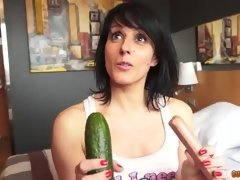 Zucchini and sausages - vanessa hard porn video